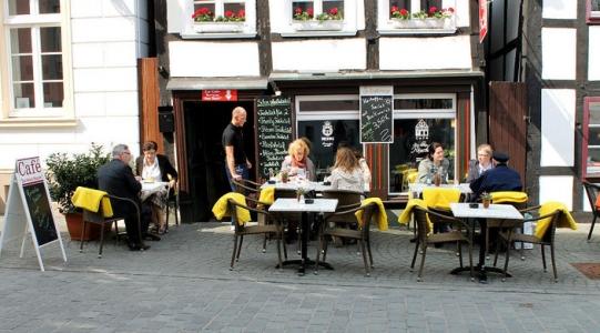 Draußen sitzen in der Soester Innenstadt